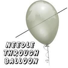 "BRAND NEW TRICK -Needle Through Balloon (10 x 11"" Balloons ONLY)"