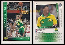NBA UPPER DECK 1993/94 - Sam Perkins # 28 - Supersonics - Ita/Eng - MINT
