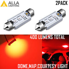 Alla Lighting Map,Dome,Courtesy Light Bulb Red Interior Overhead Reading Lamp,2x