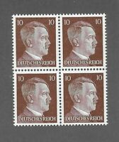MNH stamp block / Adolph Hitler / PF10 / WWII Germany / 1941 Third Reich issue