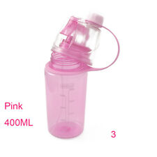 1pc Travel Water Drink Bottle Portable Leak Proof Cup Spray Bottle Green 400ml