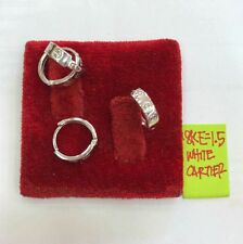 Gold Authentic 18k saudi white gold earrings,