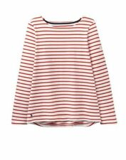 Maglie e camicie da donna rosso a righe in cotone
