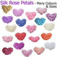 Silk Rose Petals Craft Work Card Making Potpourri Jars Art Flowers Fabric Lot UK