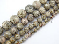 Natural Medical Stone Jasper Gemstone Round Beads 15'' 4mm 6mm 8mm 10mm