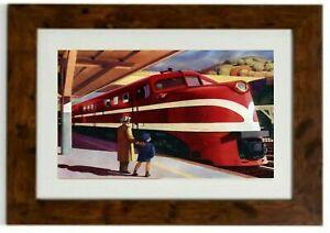 *NEW LARGER SIZE* American Locomotive Framed Print by Edward Hopper