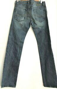 DIESEL SAFADO REGULAR SLIM STRAIGHT BLUE JEANS W29 L32 WASH 0075I