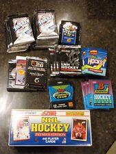 Big Lot (48+) Unopened Hockey Packs & Set 1990 1991 1992 Upper Deck Topps Score