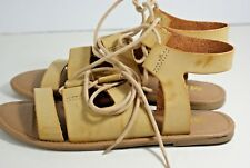 ed27a8539e3 MIA Delphine Women s Size 6 Tan Gladiator Supple Leather Sandals Casual  Lace-up