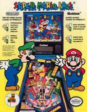 Super Mario Bros Pinball FLYER 1992 Original NOS Gottlieb Artwork Promo Sheet