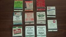 Lot of 11 Vintage Gas Oil Matchbook Covers Chevron Philgas, Texaco, Vickers, Mob