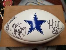 Emmitt Smith/Irvin/Troy Aikman Signed autographed logo Football Dallas Cowboys