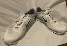 NIKE TRAINING sz9 Women's IN SEASON TR5 White & Silver Athletic Sneakers Shoes