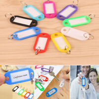 Decor Plastic Luggage Tags Blank Jewelry Key Chains Splits Card Key Rings