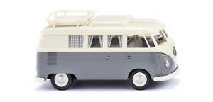 Wiking 079724 - 1/87 VW T1 Bus de Camping - Perle Blanc/Gris - Neuf