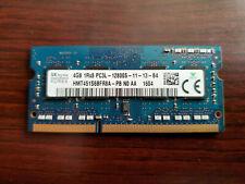 SK HYNIX 4Gb 1Rx8 DDR3 PC3L-12800S LAPTOP SODIMM RAM MEMORY HMT451S6BFR8A-PB