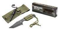 "7"" Full Tang Survival Hunting Knife 440 Steel with Steel Flint Fire Striker"