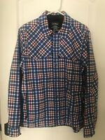 Rare LL Bean Soft Shell Plaid Shirt Jacket Ski Snowboard Medium M