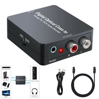 Digital AC-3 DTS to Analog R/L RCA Audio Decoder Converter Optical Coaxial Dolby