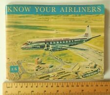 Vintage Book KNOW YOUR AIRLINERS 50s 60s Shell & BP Retro Aeroplane