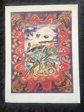 """PONCKLE FLETCHER 1934-2012 St Ives """"Claude in the Clouds"""" 1991 Print Cats"""