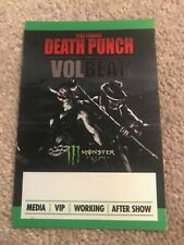 Five Finger Death Punch Rare Volbeat Tour Backstage Pass Hell Yeah 5Fdp Metal