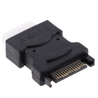 SATA Power Connector 15pin male to 4pin PC IDE Female Converter Adapter FLA