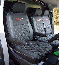 VW Transporter T5 Genuine Fit Sportline Van Seat Covers Black & Pewter Diamonds