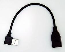 USB A FEMELLE VERS UN MÂLE angle droit USB câble de rallonge 20cm (GAUCHE côté )
