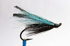 1 x mouche Saumon BLUE SMELT SINGLE hook salmon fly fliegen steelhead hairwing