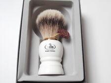 OMEGA Rasierpinsel XL Premium Dachs SILBERSPITZ weiß Shaving brush Silvertip !!