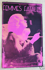 Vintage Original Hollywood FEMMES FATALES Poster Jean Harlow 1974 Walker Art Ctr