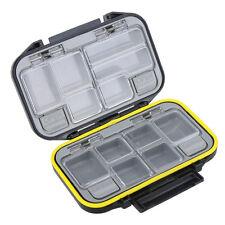 Waterproof Storage Case Fly Fishing Lure Spoon Hook Bait Tackle Box Black US