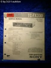 Sony Service Manual TC FX330 Cassette Deck (#0223)