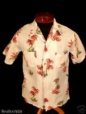 "RARE VINTAGE 1930'S COTTON ""WILDWOOD""  HAWAIIAN SHIRT"