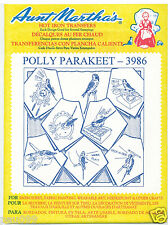 Polly Parakeet Birds Aunt Martha's Embroidery Transfer