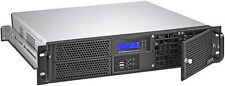 """2U (LCD)(Micro-ATX/ITX)(2x5.25""""+2x3.5"""" HDDs)Rackmount Chassis(D:14.96"""" Case) NEW"""