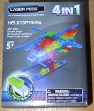 Helicopters 4 models in 1 Laser Pegs Light up Construction toy blocks MPS