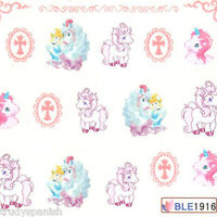 Nail Art Water decals Stickers Transfers Unicorns Lace My Little Pony Gel Polish