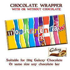 Mother In Law Chocolate Bar Wrapper Novelty Gift Mothers Day Birthday Christmas