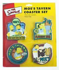 The Simpsons - Moe's Tavern Drinks Coaster Set  4 Non Slip Beer Tea Mats  - NEW