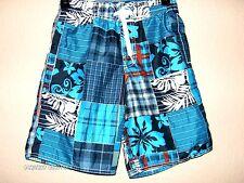 Boys Board Shorts Size 8 Medium Great Graphic Design w/Side Pockets
