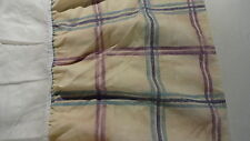 BED SKIRT Dust Ruffle Size Full Aqua Burgundy Navy on Gold Plaid