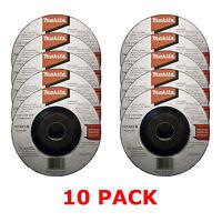 """MAKITA 115mm 4 1/2"""" GRINDER DISCS - 10 PACK FOR 18V LXT DGA454Z ANGLE GRINDER"""