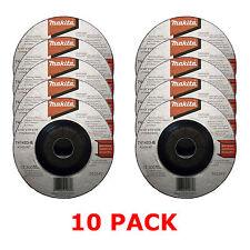 """MAKITA 115mm 4 1/2"""" GRINDER DISCS - 10 PACK FOR 18V LXT BGA452Z ANGLE GRINDER"""