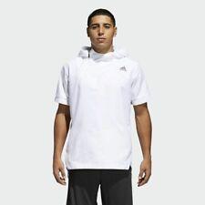 Adidas Eléctrico Tirador Sudadera con Capucha Hombre Blanco Activewear Deportiva