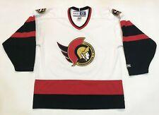 Vintage CCM Ottawa Senators NHL Hockey Jersey Adult L White Canada Sewn