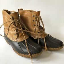 Vintage LL BEAN Duck Boots Womens Size 7 M Maine Hunting Shoe Brown USA Winter