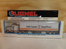 LIONEL TRAIN 1:43 LITTLE CAESARS PIZZA SEMI TRACTOR TRUCK & TRAILER SET 6-12807