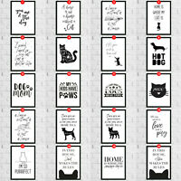 Pet Lovers Cat Dog Room Wall Quote Hangings Art Print Home Decoration Kitchen